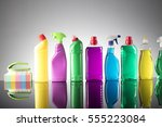cleaning products. home... | Shutterstock . vector #555223084
