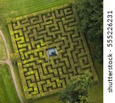Aerial View Of Horta Labyrinth...
