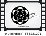 film reel icon vector eps 10 ... | Shutterstock .eps vector #555231271