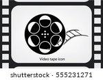 film reel icon vector eps 10 ...   Shutterstock .eps vector #555231271