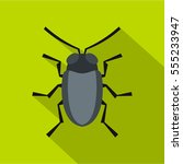 small bug icon. flat... | Shutterstock . vector #555233947