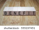 Small photo of Benefit Word In Wooden Cube Stamp
