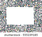 tribal vector greeting card... | Shutterstock .eps vector #555239185