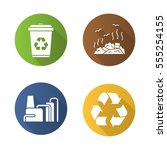 waste management. flat design... | Shutterstock .eps vector #555254155
