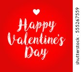 happy valentine's day sign with ...   Shutterstock .eps vector #555267559