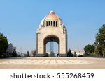 the monument to the revolution... | Shutterstock . vector #555268459
