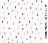 Vector Pattern With Rain Drops...