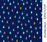seamless vector pattern with... | Shutterstock .eps vector #555271729