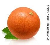 grapefruit isolated on white... | Shutterstock . vector #555272371