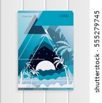 stock vector brochure design... | Shutterstock .eps vector #555279745