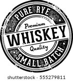 pure rye whiskey alcohol | Shutterstock .eps vector #555279811