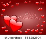 valentines day card with hearts ... | Shutterstock .eps vector #555282904