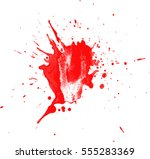 blood drops and splatters on... | Shutterstock .eps vector #555283369