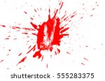 blood drops and splatters on... | Shutterstock .eps vector #555283375