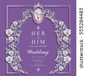 wedding invitation card... | Shutterstock .eps vector #555284485