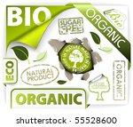 set of bio  eco  organic... | Shutterstock .eps vector #55528600
