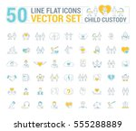 vector graphic set. icons in... | Shutterstock .eps vector #555288889