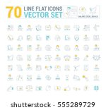 vector graphic set. icons in... | Shutterstock .eps vector #555289729