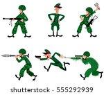 vector illustration of a six... | Shutterstock .eps vector #555292939