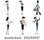 vector illustration of a six... | Shutterstock .eps vector #555292957