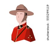 canadian trooper in the red... | Shutterstock .eps vector #555299119