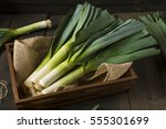 Raw Green Organic Leeks Ready...