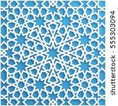 vector muslim mosaic  persian...   Shutterstock .eps vector #555303094