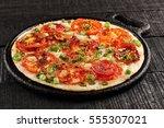 healthy breakfast  tomato...   Shutterstock . vector #555307021