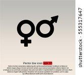 web line icon. gender symbol ...   Shutterstock .eps vector #555317647