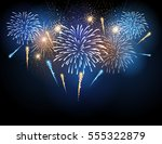 vector holiday firework.... | Shutterstock .eps vector #555322879