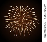 vector holiday firework.... | Shutterstock .eps vector #555322939