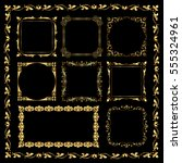golden decorative frames  ... | Shutterstock .eps vector #555324961