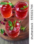 cranberry juice chilled vitamin ... | Shutterstock . vector #555331744
