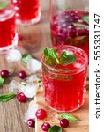 cranberry juice chilled vitamin ... | Shutterstock . vector #555331747