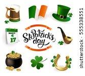 set of illustrations for... | Shutterstock .eps vector #555338551