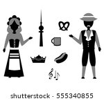 set in the style of a flat... | Shutterstock .eps vector #555340855