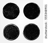 grunge post stamps.vector... | Shutterstock .eps vector #555348901
