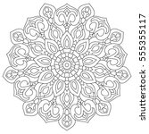 mandala for coloring book ... | Shutterstock .eps vector #555355117