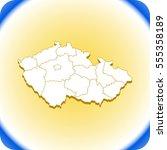 map of czech republic | Shutterstock .eps vector #555358189