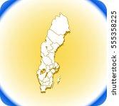 map of sweden | Shutterstock .eps vector #555358225