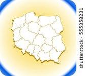 map of poland | Shutterstock .eps vector #555358231