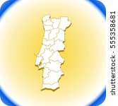 vector map of portugal | Shutterstock .eps vector #555358681