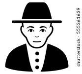 jew glyph icon. flat black... | Shutterstock . vector #555361639