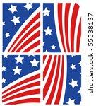 vector american flag set   Shutterstock .eps vector #55538137