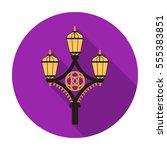 street light icon in flat style ...   Shutterstock . vector #555383851