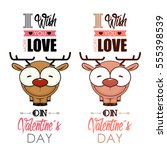 valentines day greeting card... | Shutterstock .eps vector #555398539