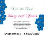romantic invitation.wedding ... | Shutterstock .eps vector #555399889