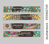 set of vector design templates. ... | Shutterstock .eps vector #555402745