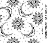 vector seamless pattern with... | Shutterstock .eps vector #555406849