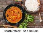 bengal fish curry  doi maach  ... | Shutterstock . vector #555408001